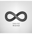 Endless road vector image