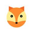 fox cartoon animal head vector image