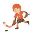 Little hockey player vector image