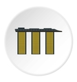 Marina Bay Sands hotel in Singapore icon vector image