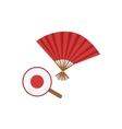 Paper Fans Japanese Culture Symbol vector image