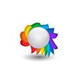 Rainbow button vector image