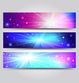 set of banner with light rays vector image