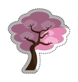 tree japanese traditional icon vector image