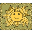 Stylized sun drawing background vector image vector image