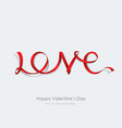 Inscription love made red ribbon vector image