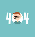 404 error page not found conceptual sign flat vector image