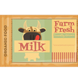 poster milk vector image vector image