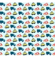 Hand drawn doodle style cars seamless pattern vector image