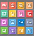 Colorful media photo icons vector image vector image