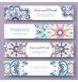Set of ethnic ornament banners and flyer concept vector image