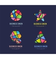 Abstract logo template set for branding and vector image
