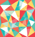low polygon mixed color overlay vector image