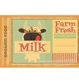 poster milk vector image