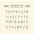 Rune alphabet Occult ancient symbols vector image