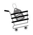 shopping cart online price tag gray color vector image