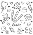 doodle of candy sweet hand draw vector image