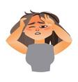 woman having severe headache migraine vector image