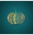 Typographic Pumpkin Card vector image vector image