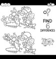 spot the difference with insects coloring book vector image vector image