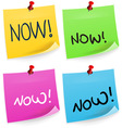 Now Sticky Note vector image vector image