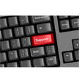 keyboard with support vector image vector image