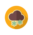 Cloud with Snow retro flat icon Weather vector image