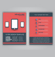 Design business flyers in a flat style vector image