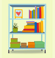 furniture interior shelf home design modern living vector image