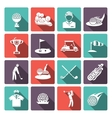 Golf icons set vector image