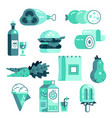 grocery market icon set vector image