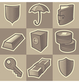 Monochrome security icons vector image