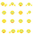 Smilies with different emotions and gestures vector image
