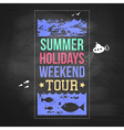 Summer holidays advertisement on a chalkboard vector image
