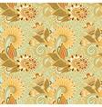 Vintage flower paisley design vector image