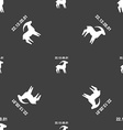 Capricorn sign Seamless pattern on a gray vector image