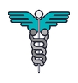 Health symbol with Serpent entwined vector image
