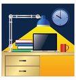 workplace colorful vector image