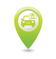 cars first aid kit GREEN map pointer vector image vector image