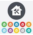 Service house Repair tool icon Service symbol vector image