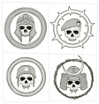 grayscale skull ornament vector image