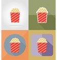 cinema flat icons 14 vector image