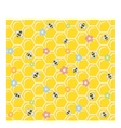 Bee on honeycomb Seamless vector image