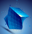 Blue squared 3D abstract technology perspec vector image