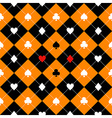 Card Suits Orange Black Diamond Background vector image