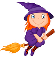Cartoon flying wizard vector image