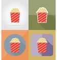 cinema flat icons 14 vector image