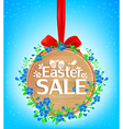 Easter sale wooden banner vector image