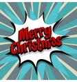 Merry Christmas blue background vector image