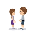 pair of children design vector image